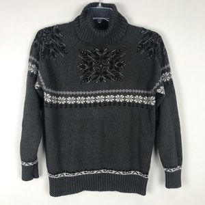 Eddie Bauer Collectables Gray Snowflake Sweater